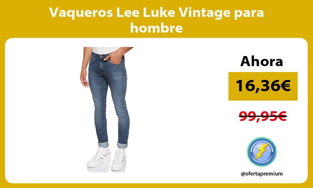 Vaqueros Lee Luke Vintage para hombre