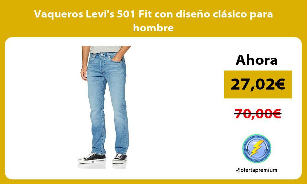 Vaqueros Levis 501 Fit con diseño clásico para hombre