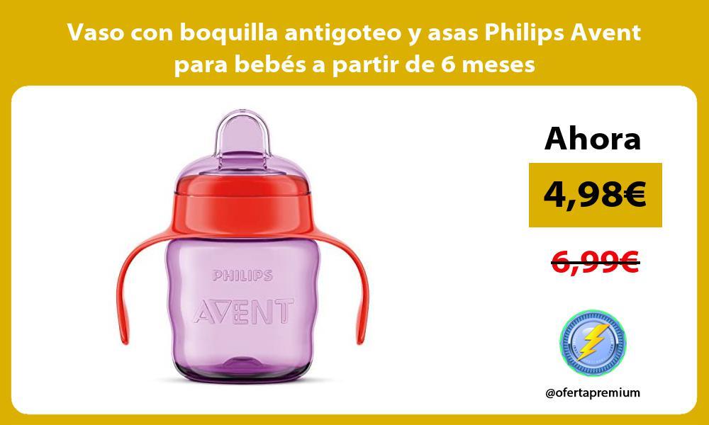 Vaso con boquilla antigoteo y asas Philips Avent para bebés a partir de 6 meses