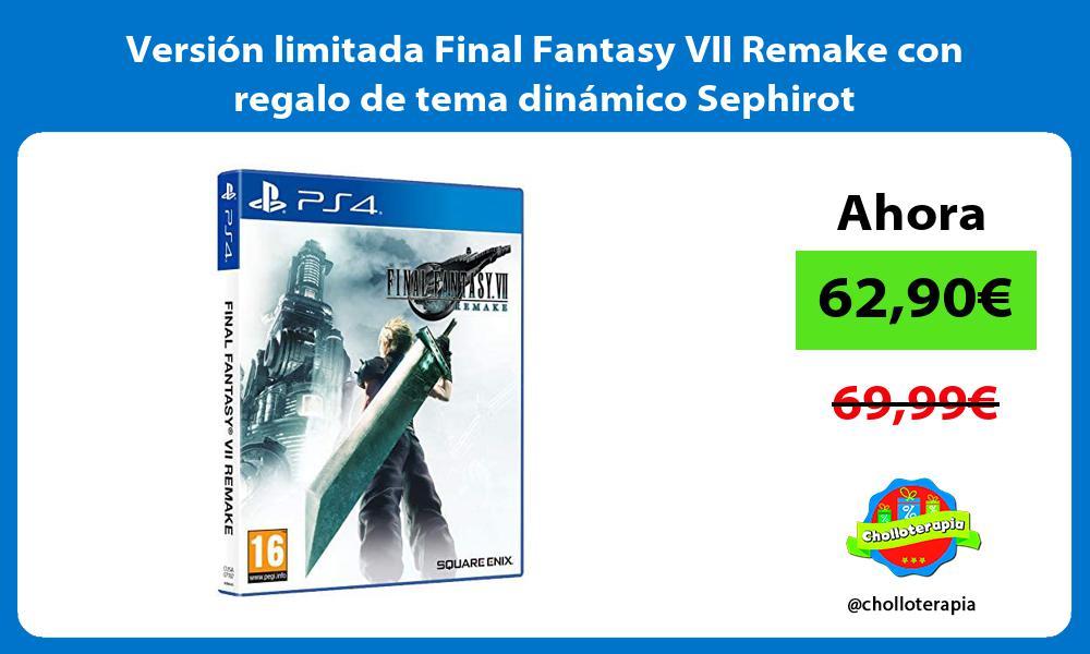Versión limitada Final Fantasy VII Remake con regalo de tema dinámico Sephirot