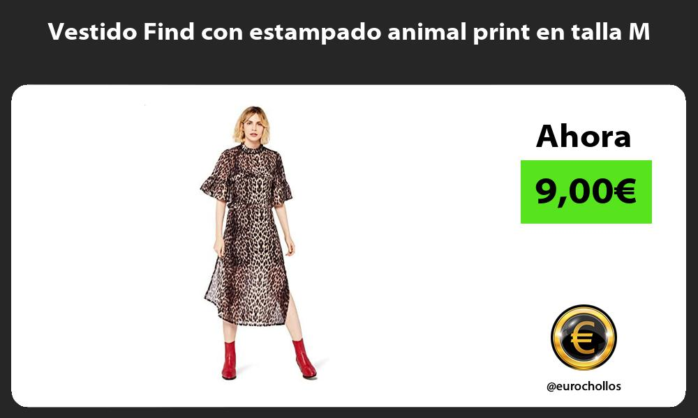 Vestido Find con estampado animal print en talla M