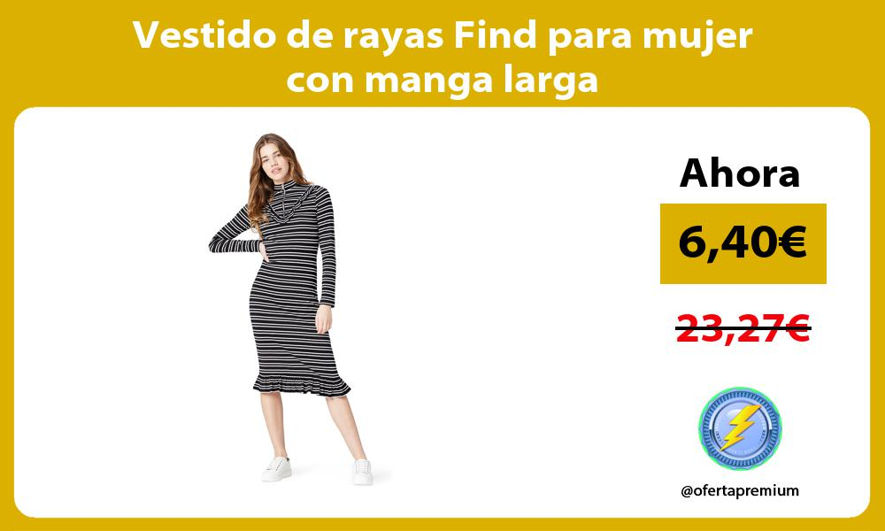 Vestido de rayas Find para mujer con manga larga