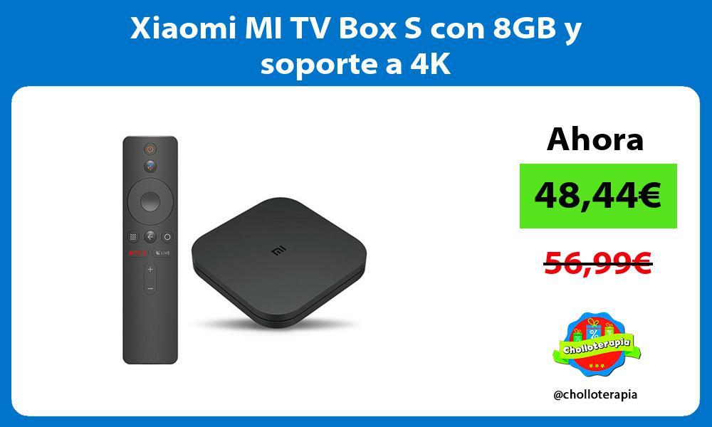 Xiaomi MI TV Box S con 8GB y soporte a 4K