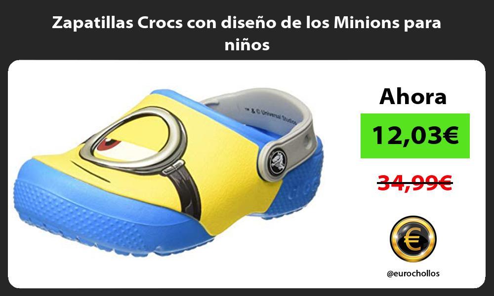 Zapatillas Crocs con diseño de los Minions para niños