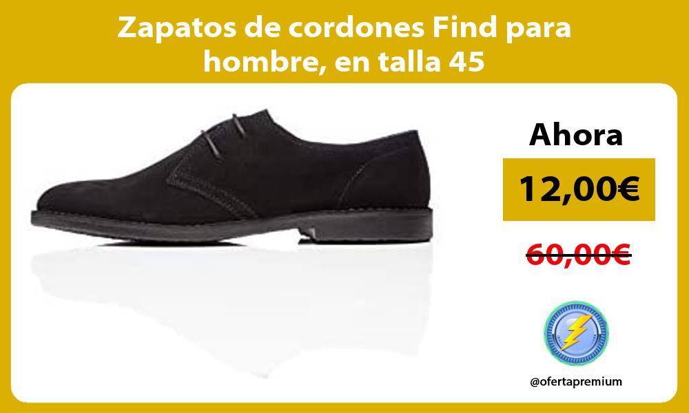 Zapatos de cordones Find para hombre en talla 45