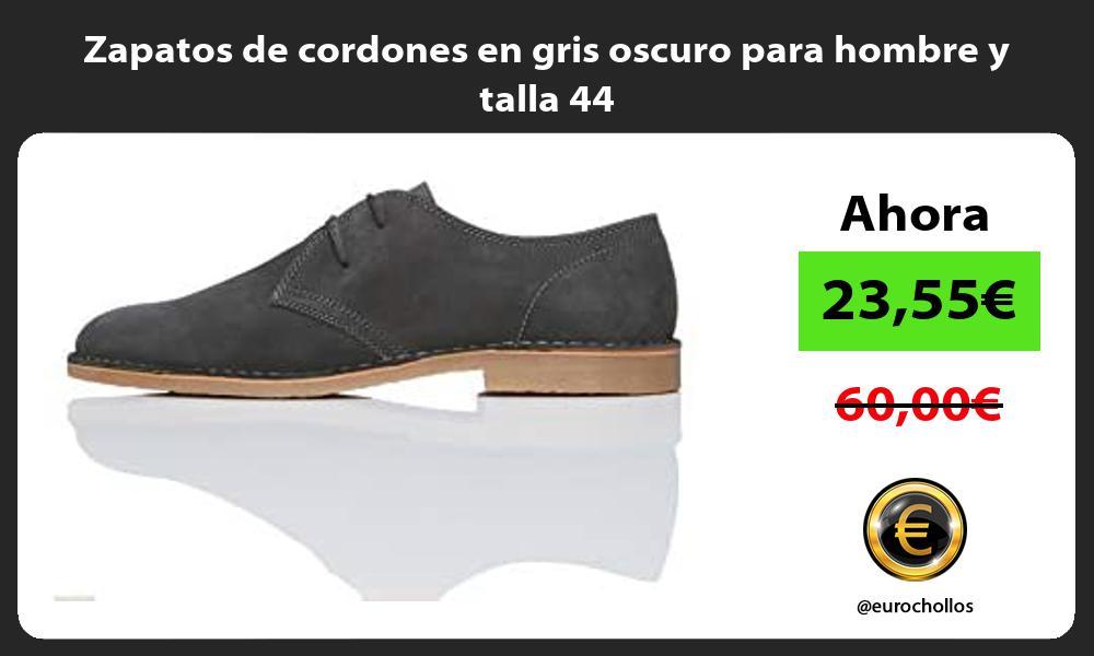 Zapatos de cordones en gris oscuro para hombre y talla 44