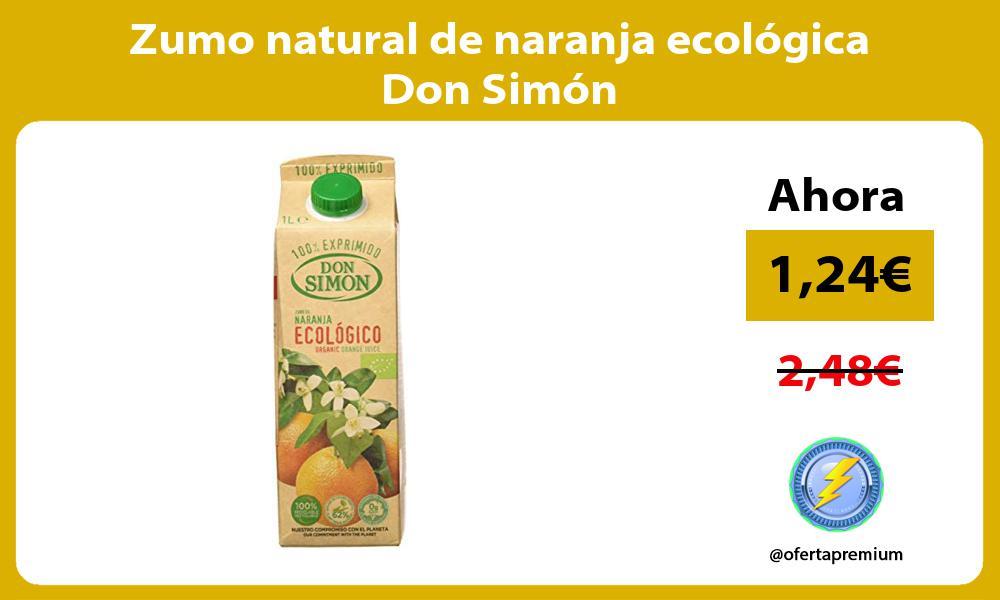 Zumo natural de naranja ecológica Don Simón