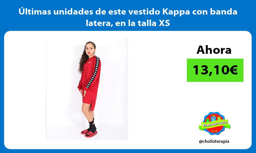 ltimas unidades de este vestido Kappa con banda latera en la talla XS