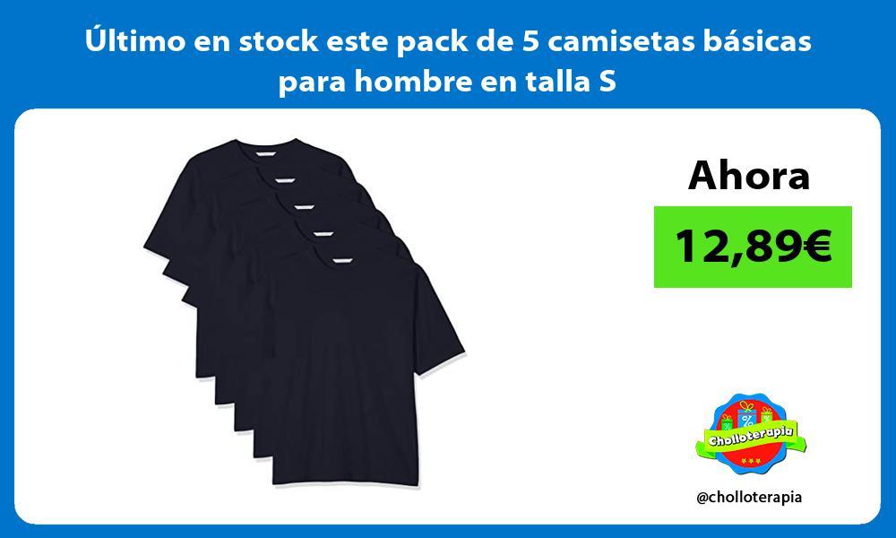 ltimo en stock este pack de 5 camisetas básicas para hombre en talla S