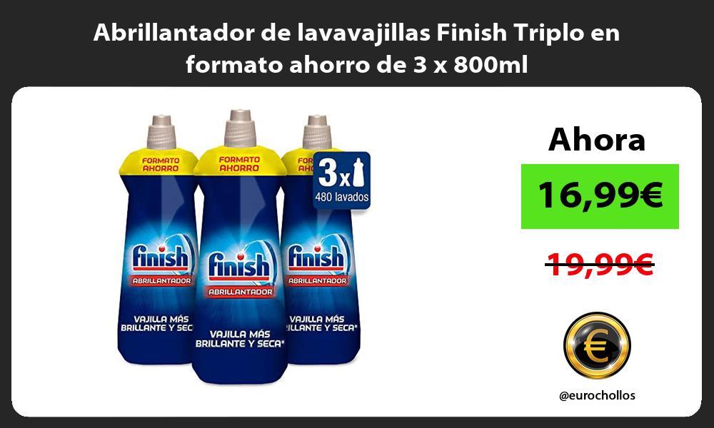 Abrillantador de lavavajillas Finish Triplo en formato ahorro de 3 x 800ml