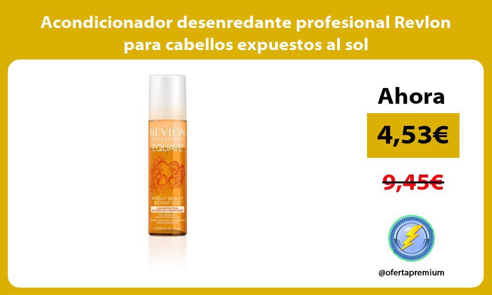 Acondicionador desenredante profesional Revlon para cabellos expuestos al sol
