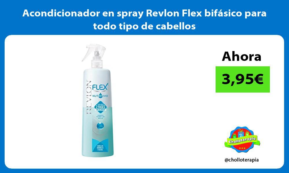 Acondicionador en spray Revlon Flex bifásico para todo tipo de cabellos