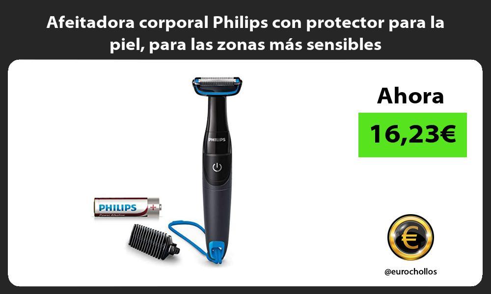 Afeitadora corporal Philips con protector para la piel para las zonas más sensibles