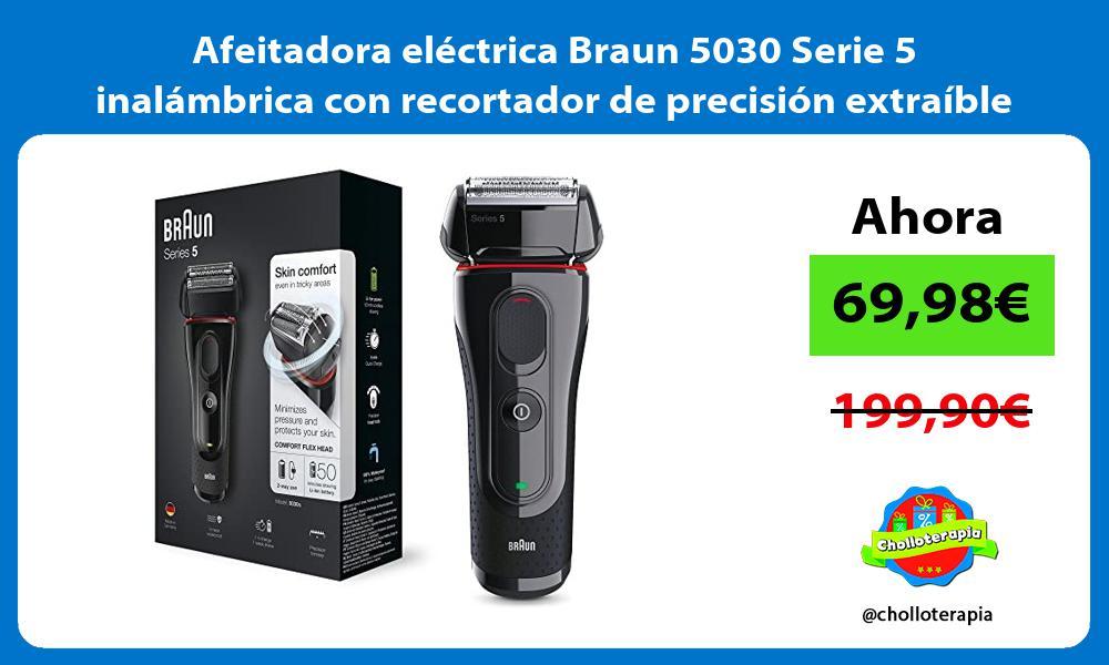 Afeitadora eléctrica Braun 5030 Serie 5 inalámbrica con recortador de precisión extraíble
