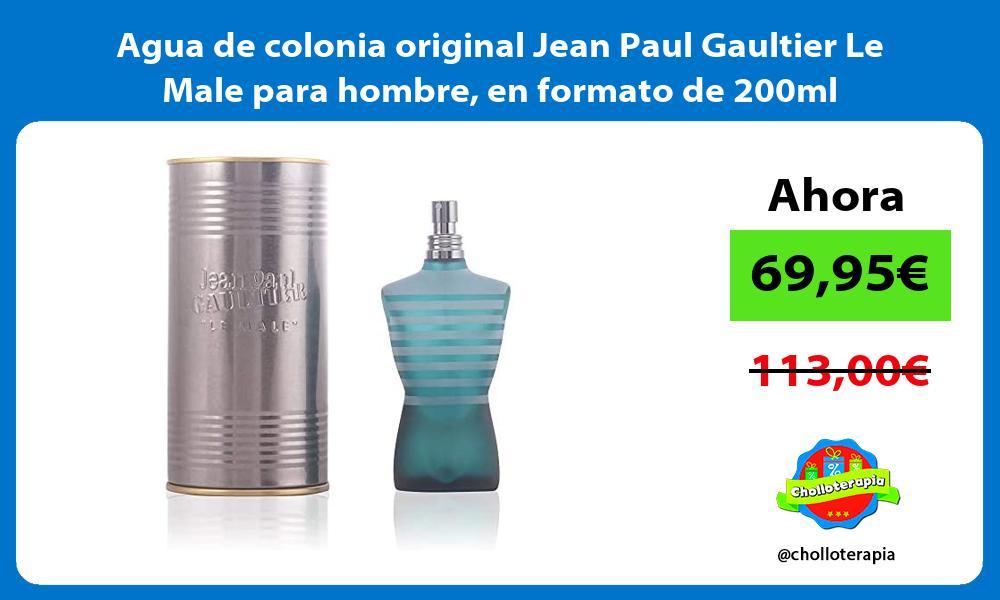 Agua de colonia original Jean Paul Gaultier Le Male para hombre en formato de 200ml