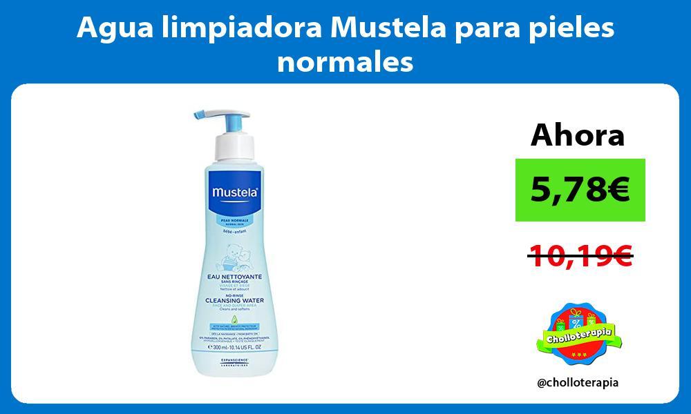 Agua limpiadora Mustela para pieles normales