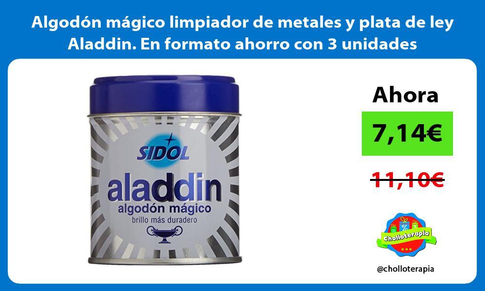 Algodón mágico limpiador de metales y plata de ley Aladdin En formato ahorro con 3 unidades