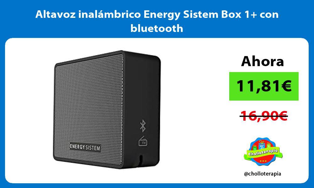 Altavoz inalámbrico Energy Sistem Box 1 con bluetooth