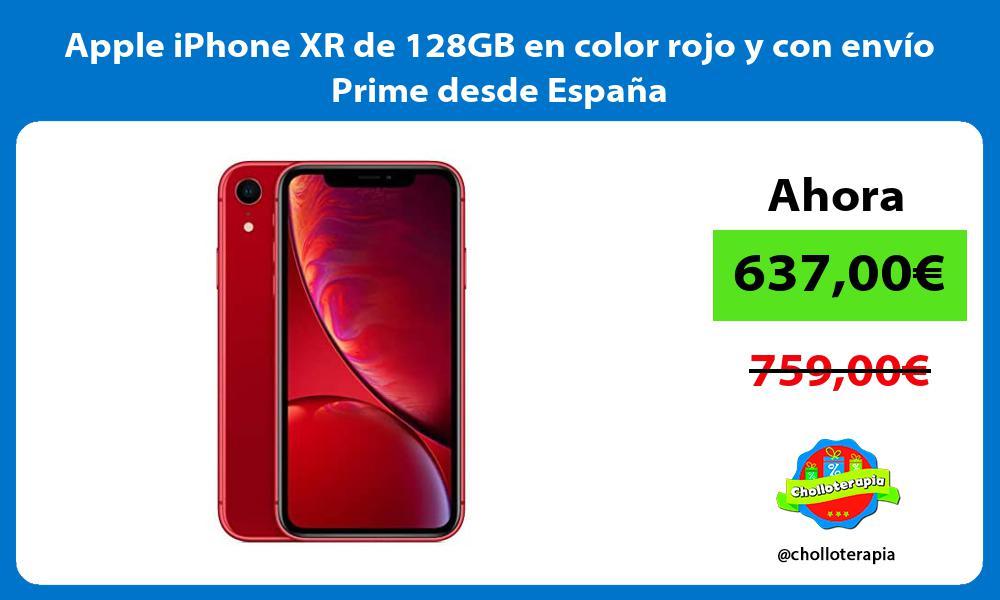 Apple iPhone XR de 128GB en color rojo y con envío Prime desde España