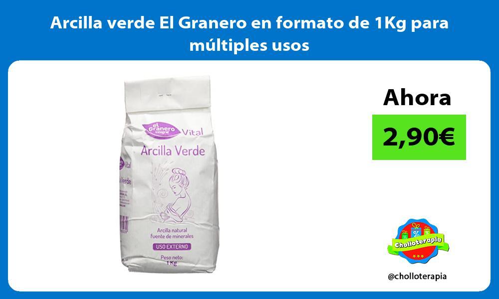 Arcilla verde El Granero en formato de 1Kg para múltiples usos