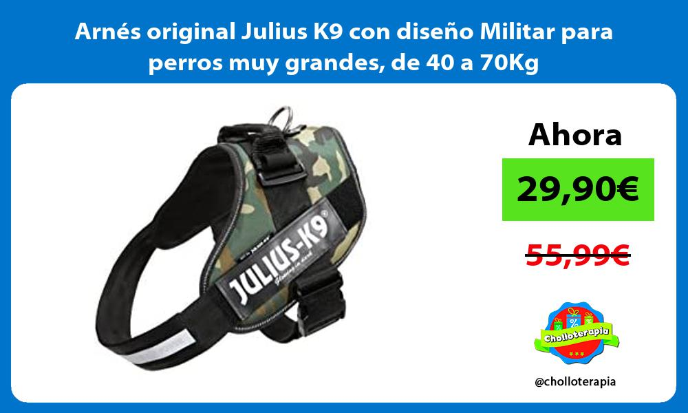 Arnés original Julius K9 con diseño Militar para perros muy grandes de 40 a 70Kg