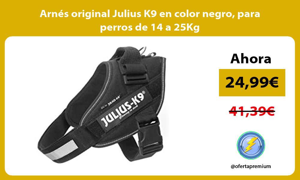 Arnés original Julius K9 en color negro para perros de 14 a 25Kg