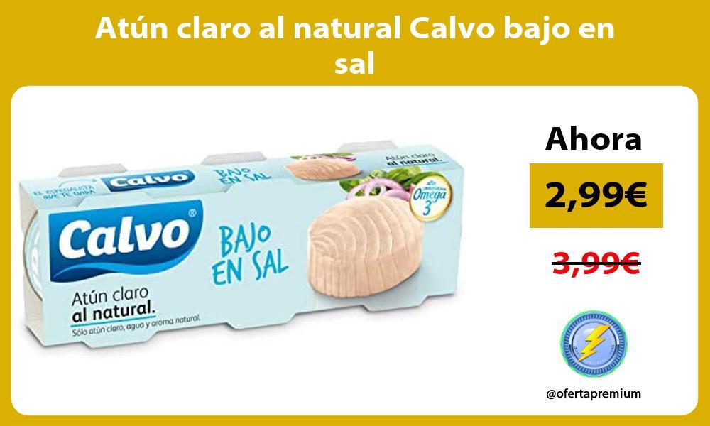 Atún claro al natural Calvo bajo en sal