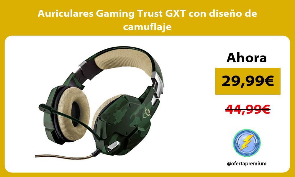 Auriculares Gaming Trust GXT con diseño de camuflaje