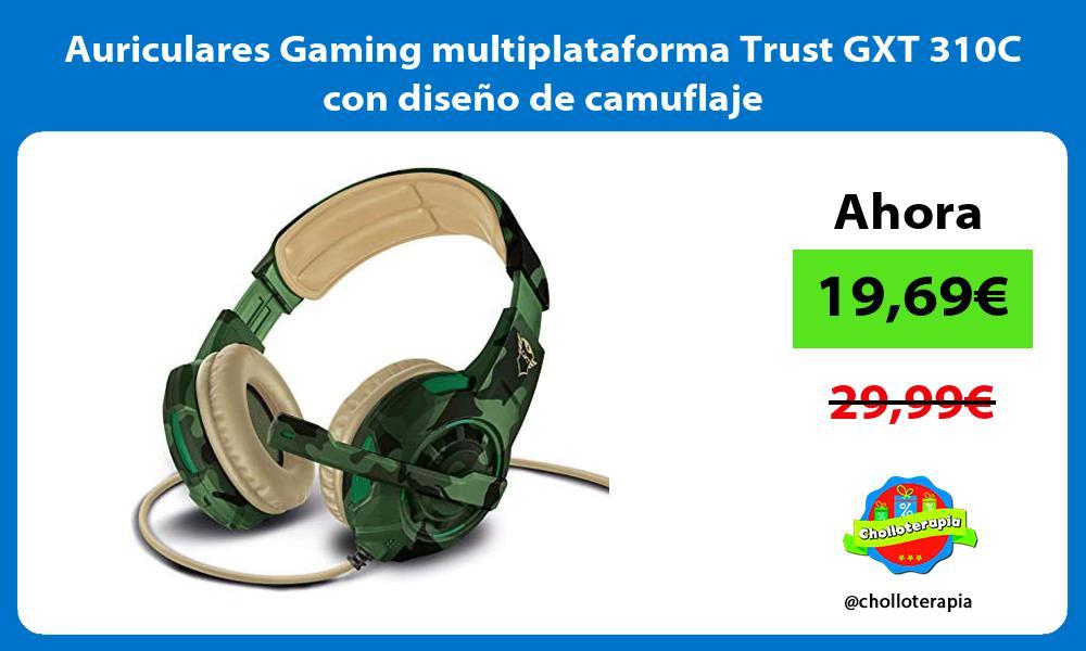 Auriculares Gaming multiplataforma Trust GXT 310C con diseño de camuflaje