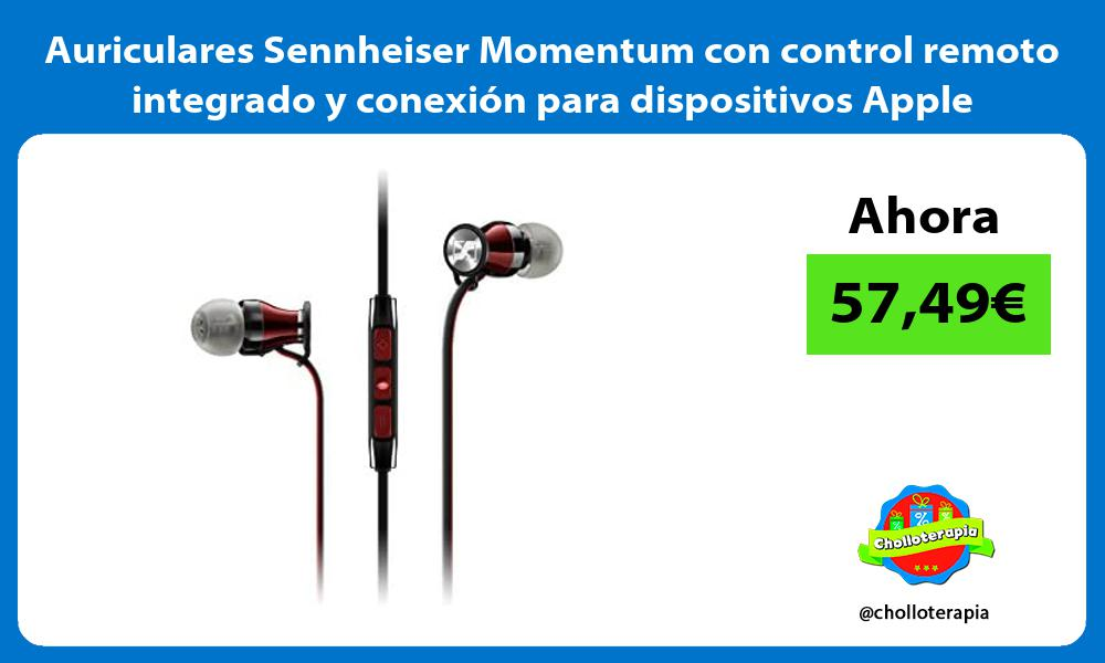 Auriculares Sennheiser Momentum con control remoto integrado y conexión para dispositivos Apple