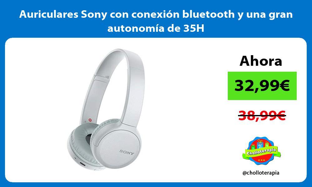 Auriculares Sony con conexión bluetooth y una gran autonomía de 35H