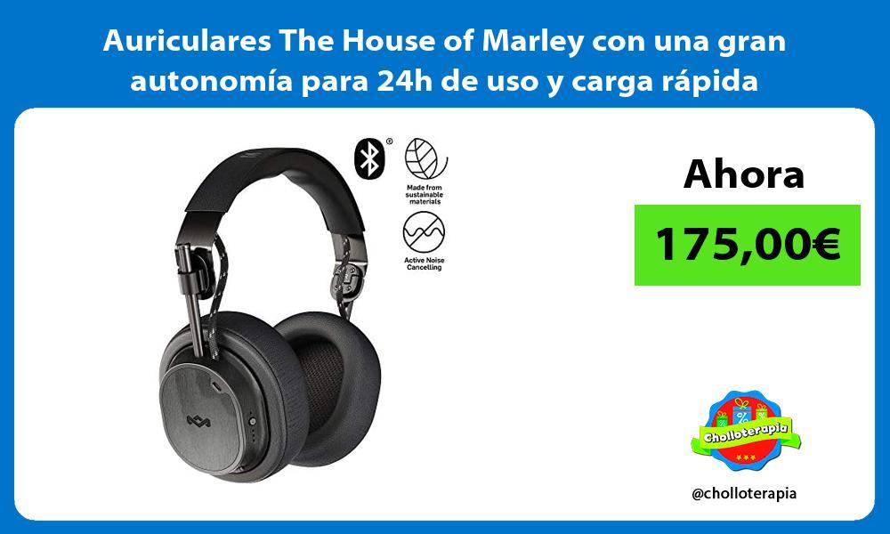 Auriculares The House of Marley con una gran autonomía para 24h de uso y carga rápida