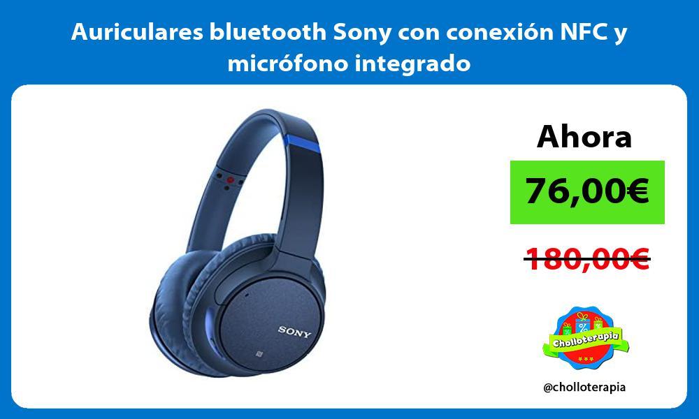 Auriculares bluetooth Sony con conexión NFC y micrófono integrado