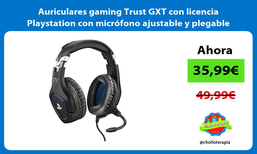 Auriculares gaming Trust GXT con licencia Playstation con micrófono ajustable y plegable