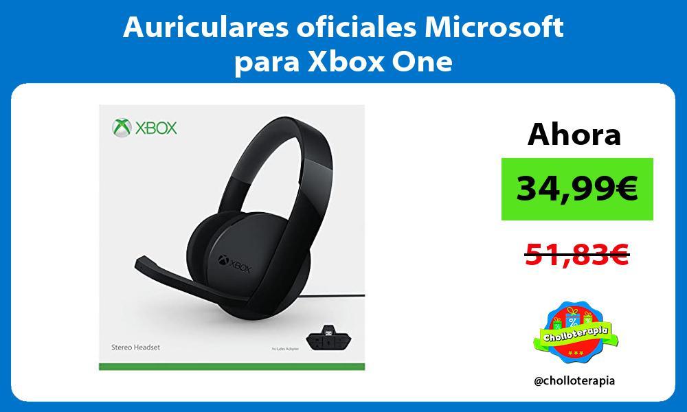 Auriculares oficiales Microsoft para Xbox One