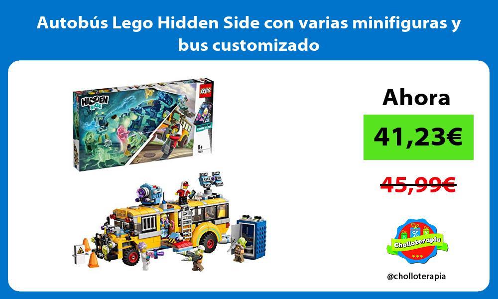 Autobús Lego Hidden Side con varias minifiguras y bus customizado