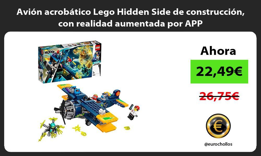 Avión acrobático Lego Hidden Side de construcción con realidad aumentada por APP