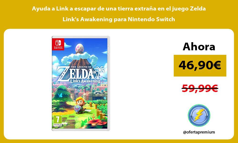 Ayuda a Link a escapar de una tierra extraña en el juego Zelda Links Awakening para Nintendo Switch