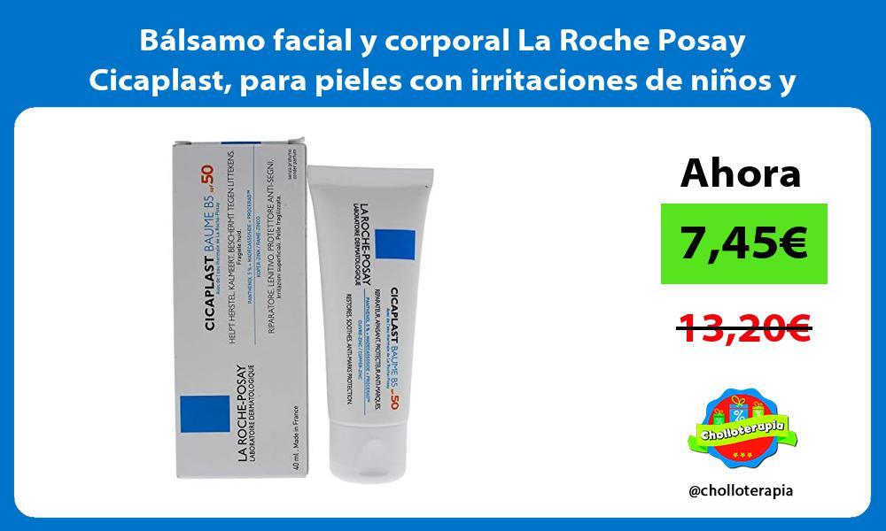 Bálsamo facial y corporal La Roche Posay Cicaplast para pieles con irritaciones de niños y adultos