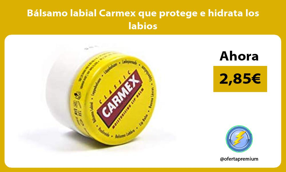 Bálsamo labial Carmex que protege e hidrata los labios
