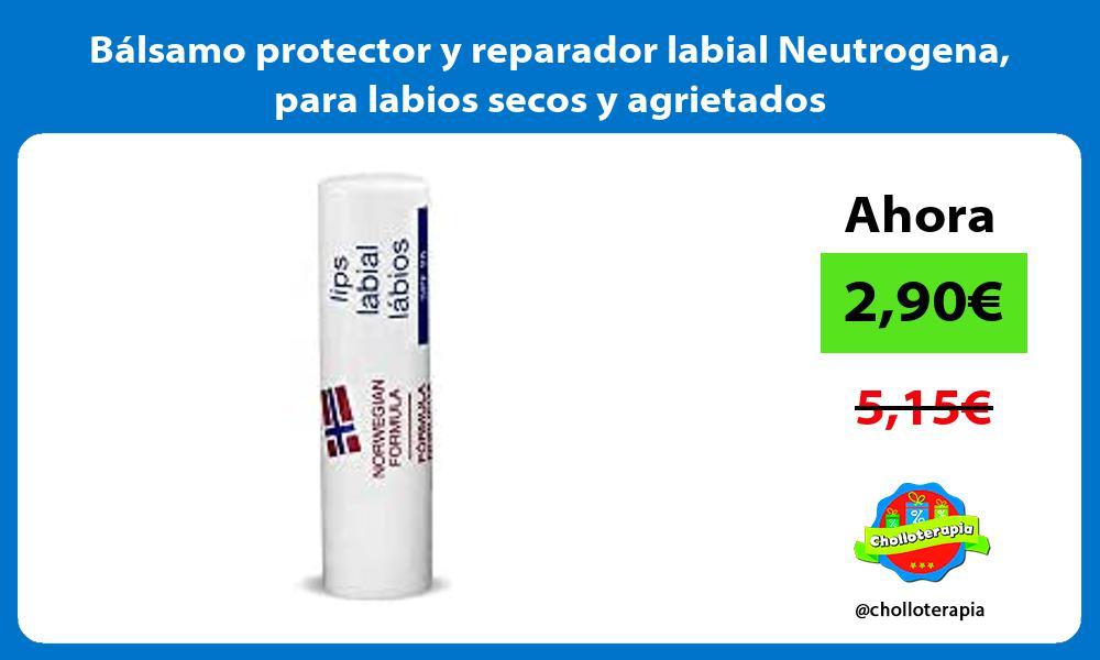 Bálsamo protector y reparador labial Neutrogena para labios secos y agrietados