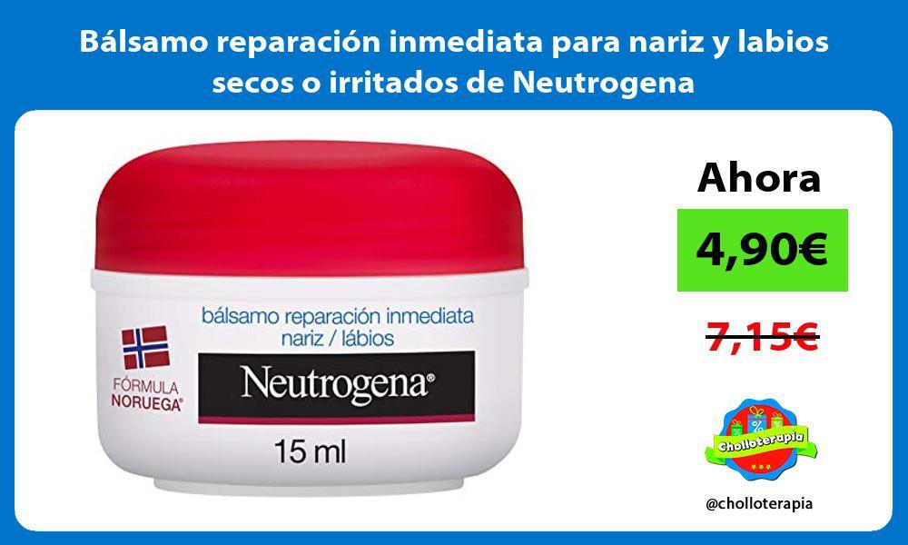 Bálsamo reparación inmediata para nariz y labios secos o irritados de Neutrogena