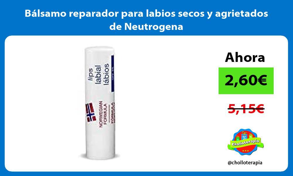 Bálsamo reparador para labios secos y agrietados de Neutrogena