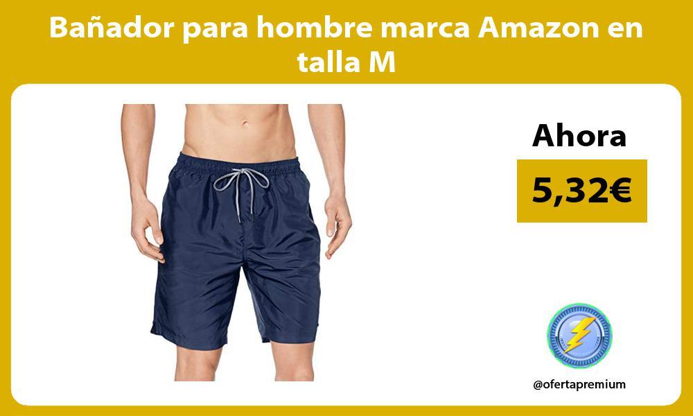 Bañador para hombre marca Amazon en talla M