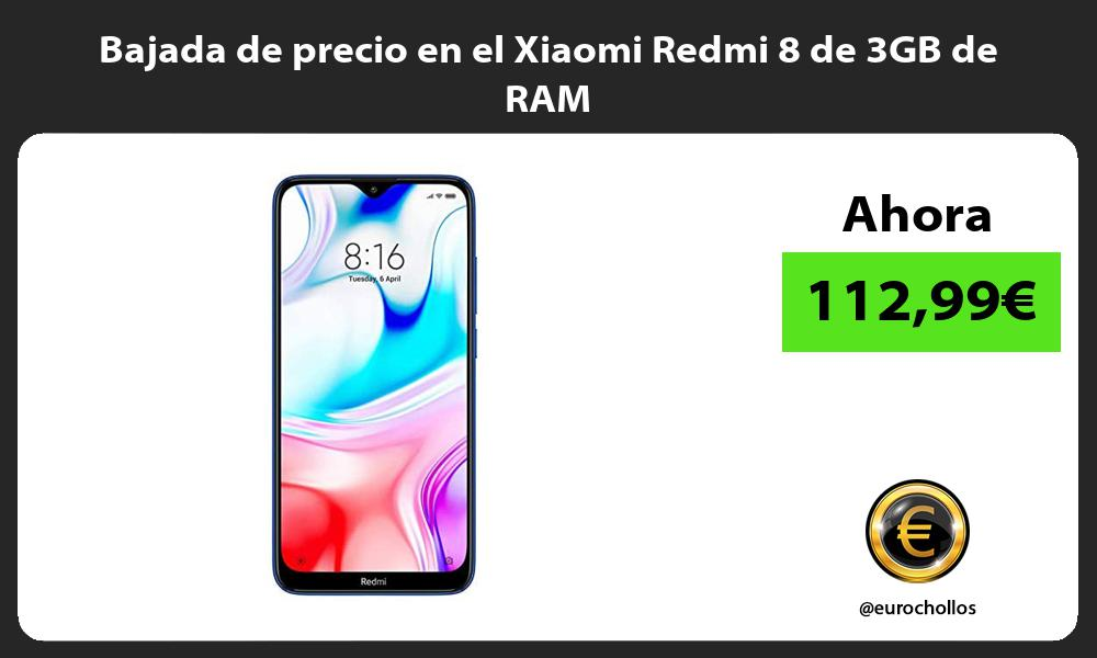 Bajada de precio en el Xiaomi Redmi 8 de 3GB de RAM