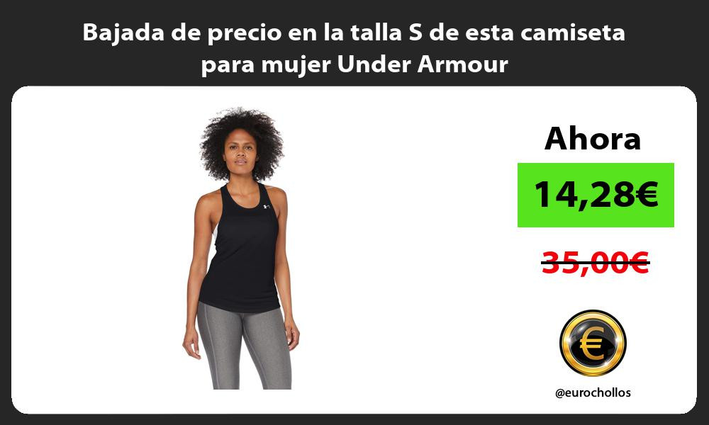 Bajada de precio en la talla S de esta camiseta para mujer Under Armour