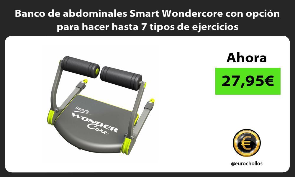 Banco de abdominales Smart Wondercore con opción para hacer hasta 7 tipos de ejercicios