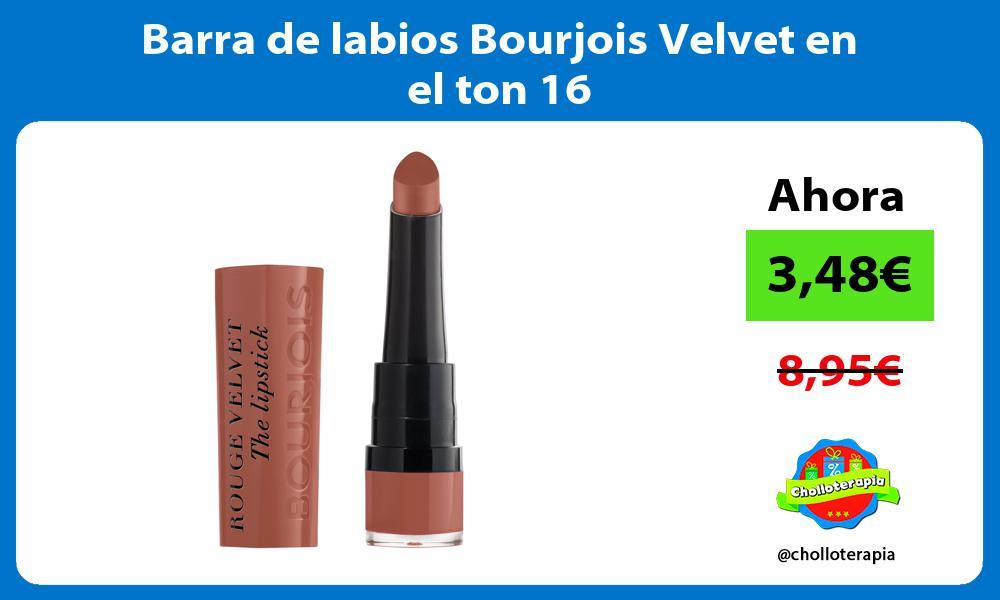 Barra de labios Bourjois Velvet en el ton 16