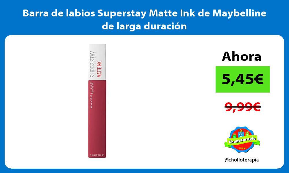 Barra de labios Superstay Matte Ink de Maybelline de larga duración