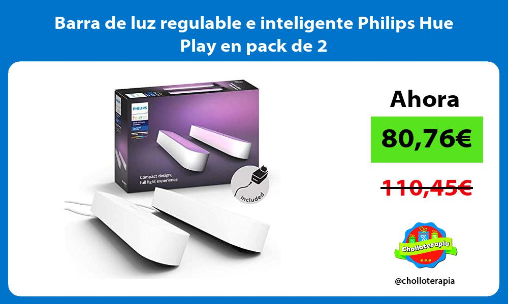Barra de luz regulable e inteligente Philips Hue Play en pack de 2